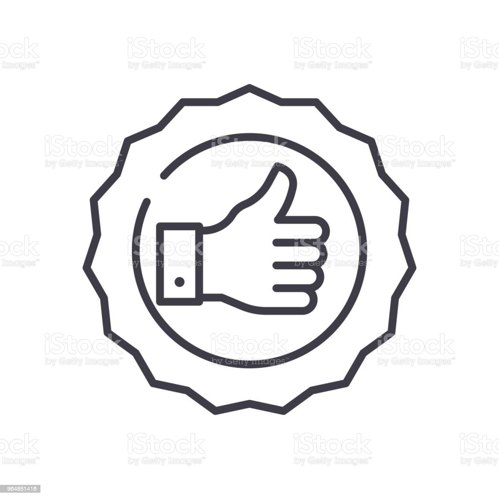 Quality mark black icon concept. Quality mark flat  vector symbol, sign, illustration. royalty-free quality mark black icon concept quality mark flat vector symbol sign illustration stock vector art & more images of accuracy