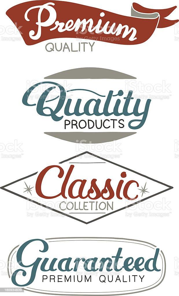 quality seal vector art illustration