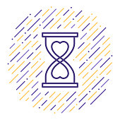 Line vector icon illustration of time spent with close family, partners or friends.