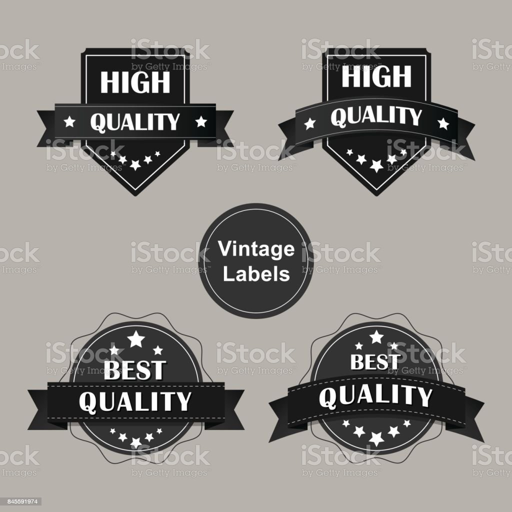 Quality vintage label design vector illustration. vector art illustration