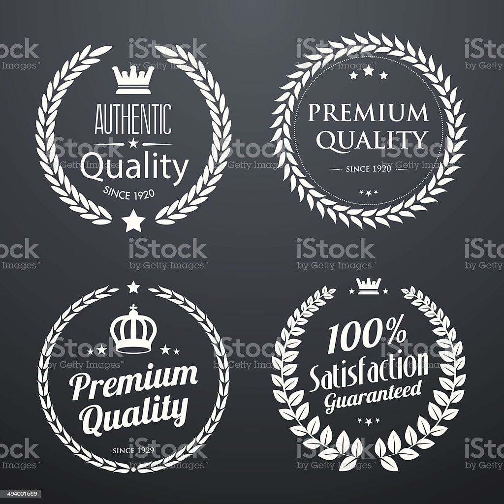 Quality vintage laurel wreaths vector art illustration