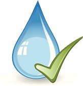 A water drop with a check mark.