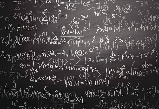 量子物理学式に黒板 - 物理学点のイラスト素材/クリップアート素材/マンガ素材/アイコン素材