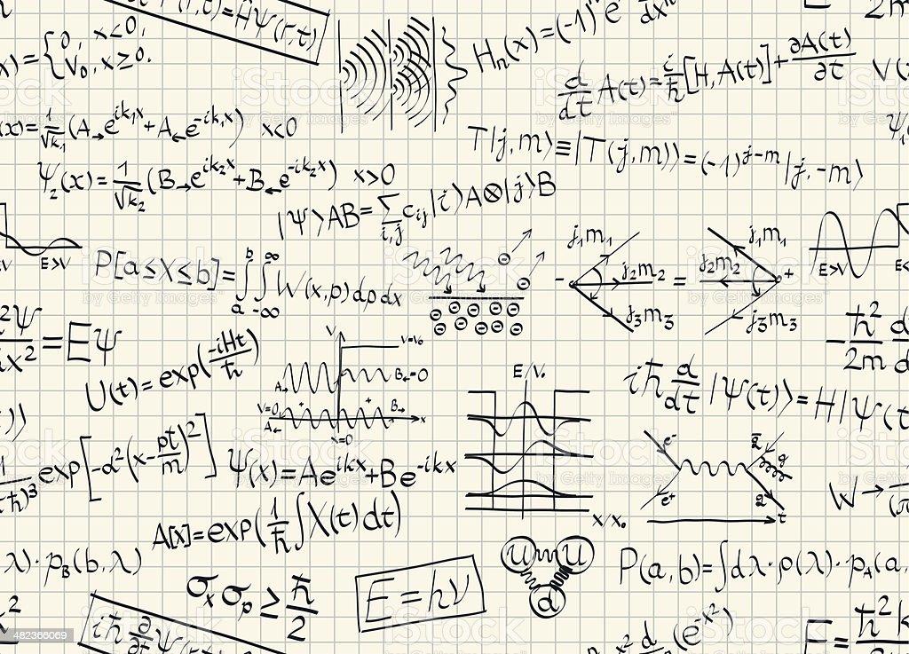 Quantum Physics Pattern vector art illustration