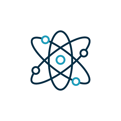 Quantum Physics Vector Line Icon Editable Stroke