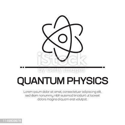 Quantum Physics Vector Line Icon - Simple Thin Line Icon, Premium Quality Design Element