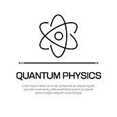 istock Quantum Physics Vector Line Icon - Simple Thin Line Icon, Premium Quality Design Element 1149809978