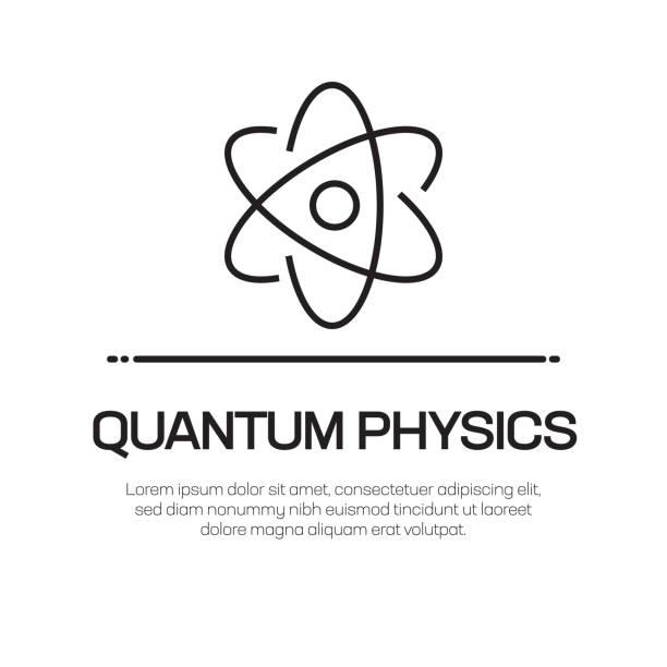 Quantum Physics Vector Line Icon - Simple Thin Line Icon, Premium Quality Design Element Quantum Physics Vector Line Icon - Simple Thin Line Icon, Premium Quality Design Element atom stock illustrations