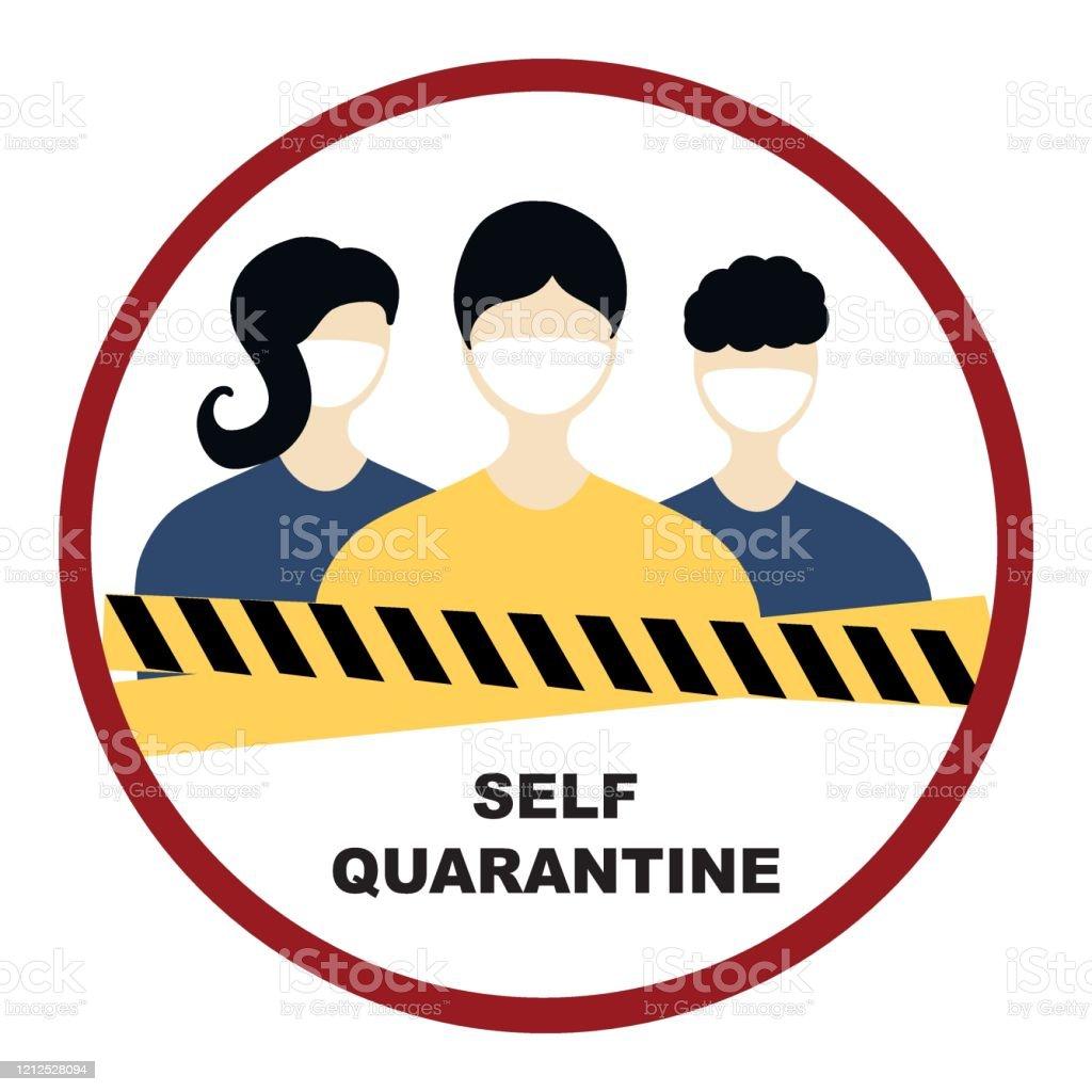 Quarantine Coronavirus Pandemic Concept Sign People In White