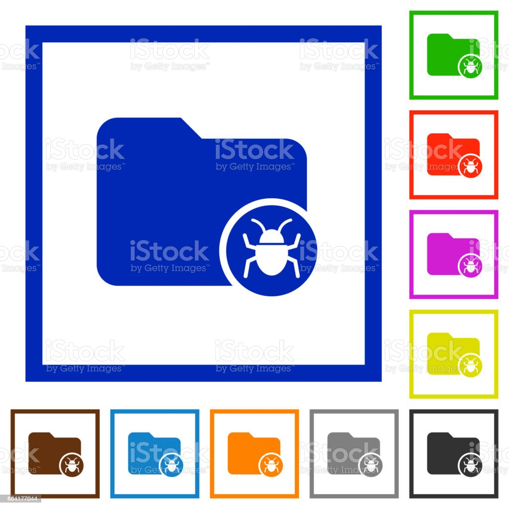 Quarantine directory flat framed icons royalty-free quarantine directory flat framed icons stock vector art & more images of applying