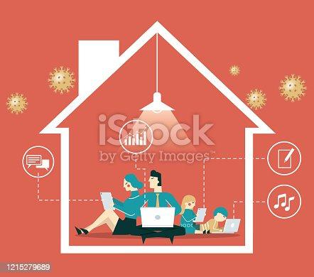 istock Quarantine - family 1215279689