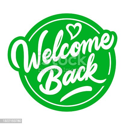 istock quarantine over - welcome back sign 1322153780