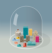 isometric city in quarantine
