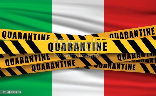 istock Quaretina and flags 1210366473