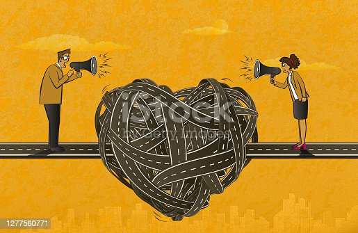 istock Quarrel Between Woman and Man 1277560771