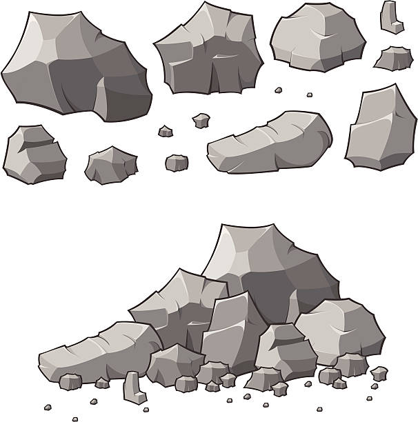 quarry - rock formations stock illustrations