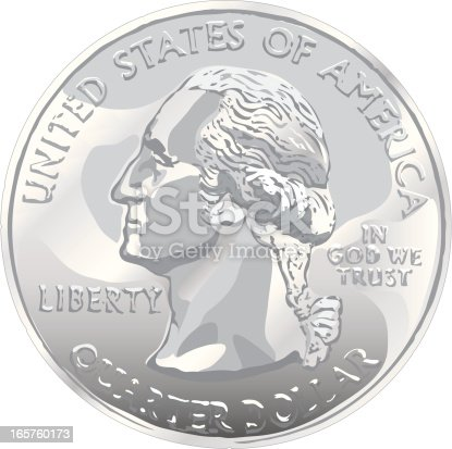istock US quarter dollar coin on white background 165760173