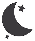 Quarter moon Icon