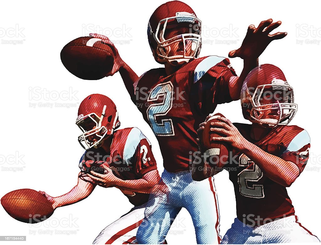 Quarterback. American Football vector art illustration