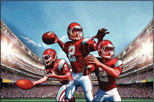 Quarterback. American Football