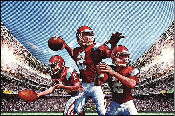 American Football Artwork: Best Quarterback Illustrations, Royalty-Free Vector