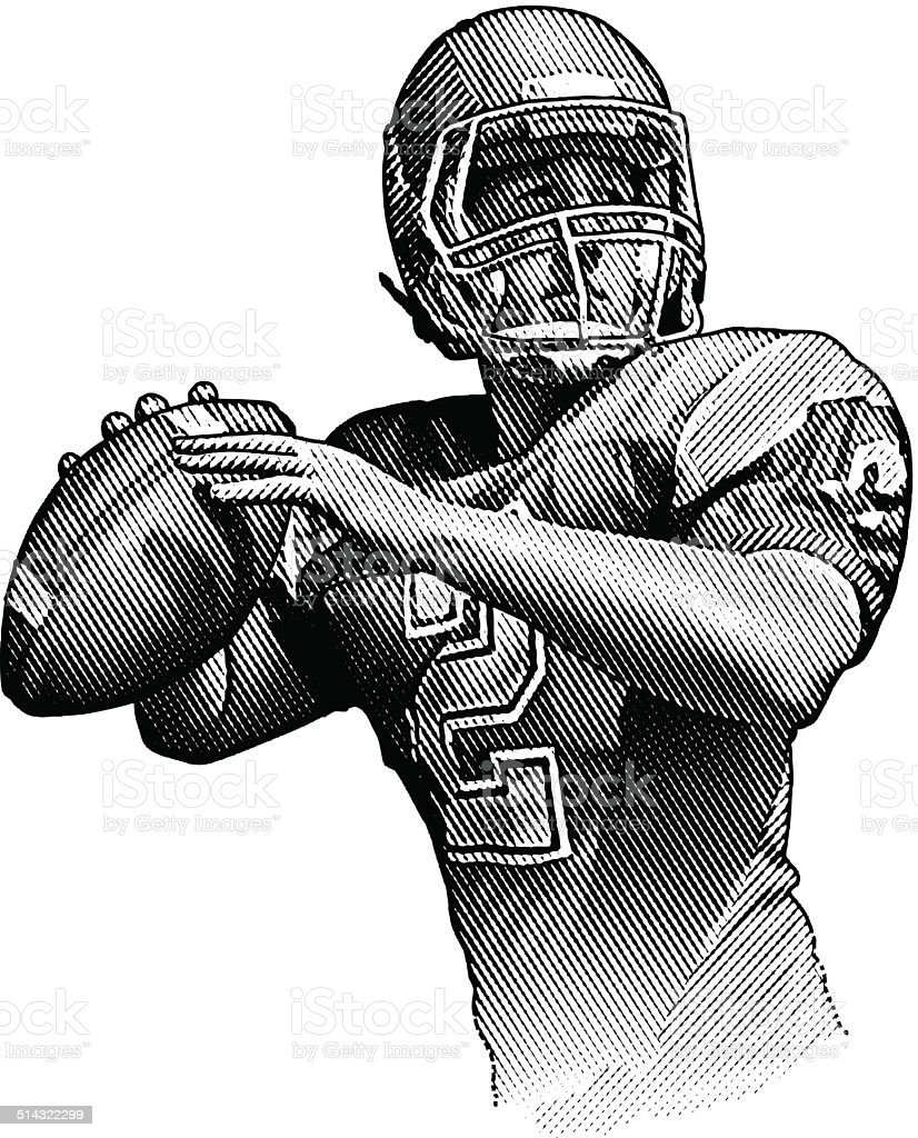 quarterback passing stock vector art   more images of touchdown clip art gif Touchdown Goal