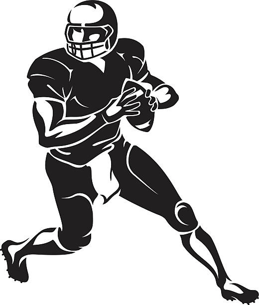American Football Player Illustrations, Royalty-Free
