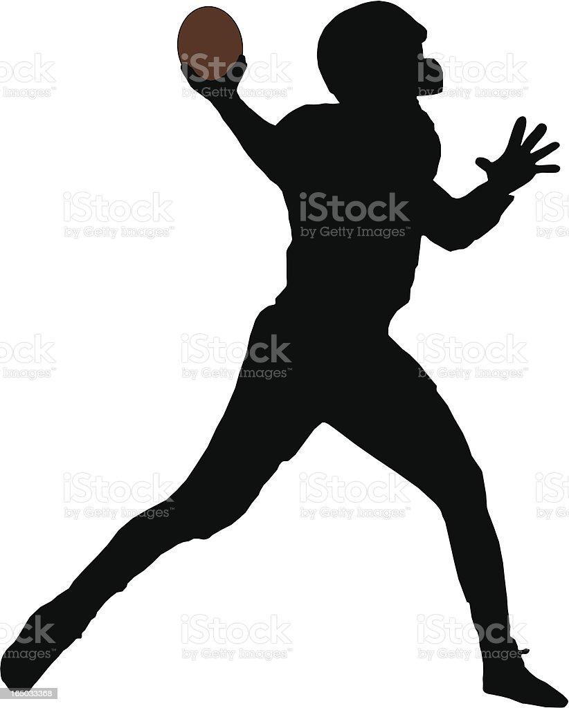 Quarterback Silhouette royalty-free stock vector art