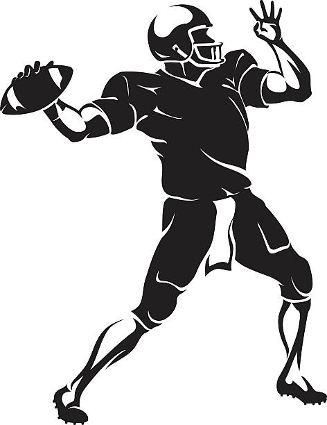Royalty Free American Football Player Clip Art Vector Images