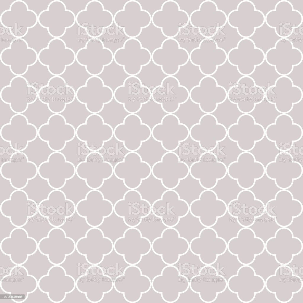 Quatrefoil geometric seamless pattern vector art illustration