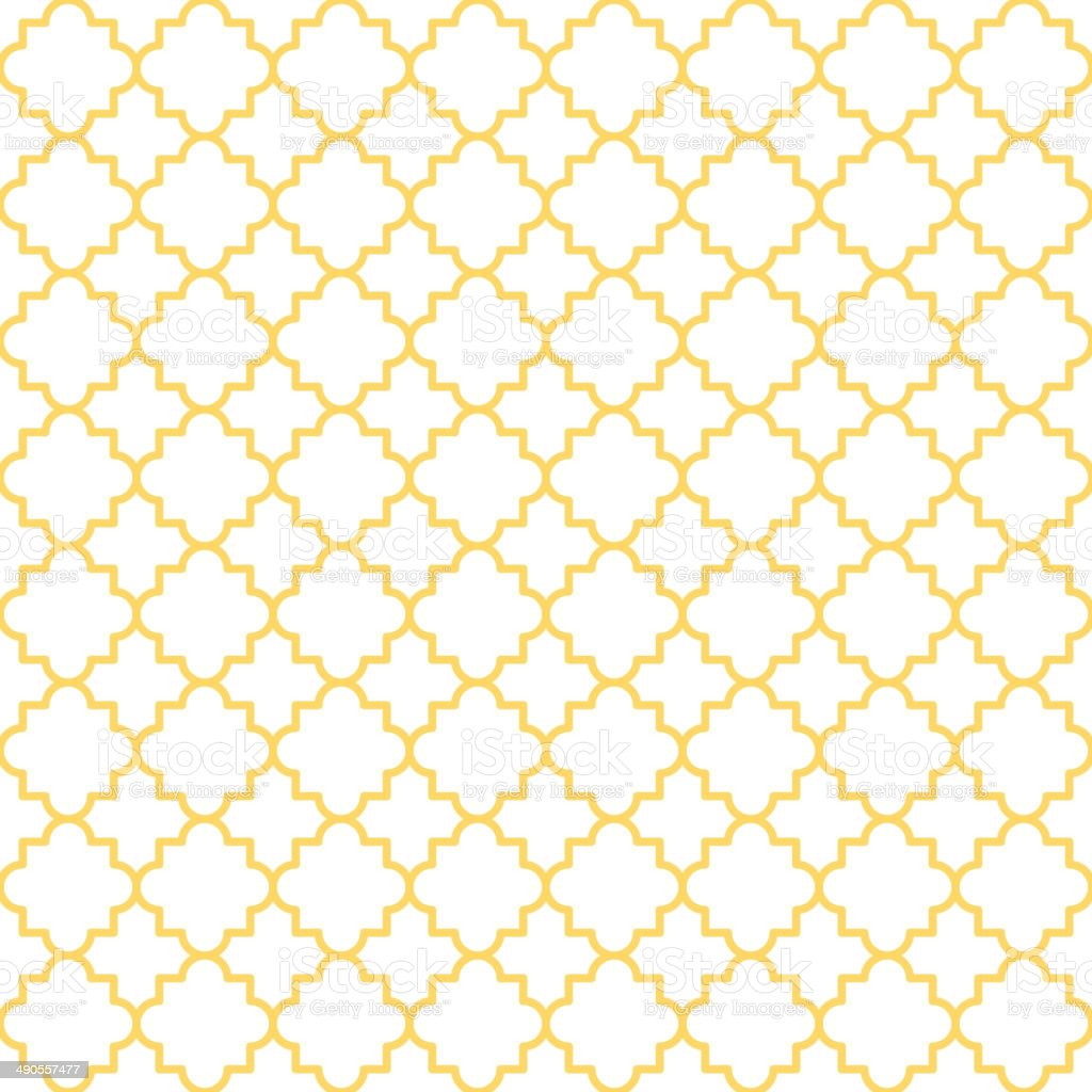 Quatrefoil Lattice Pattern vector art illustration
