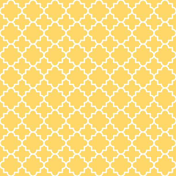 quatrefoil lattice pattern - tile pattern stock illustrations, clip art, cartoons, & icons