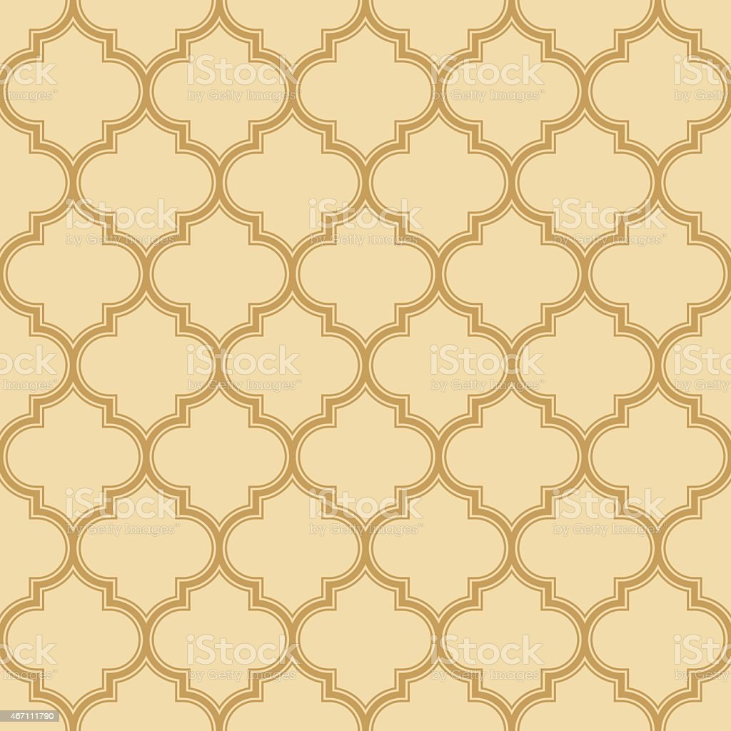 quatrefoil pattern with outlines vector art illustration