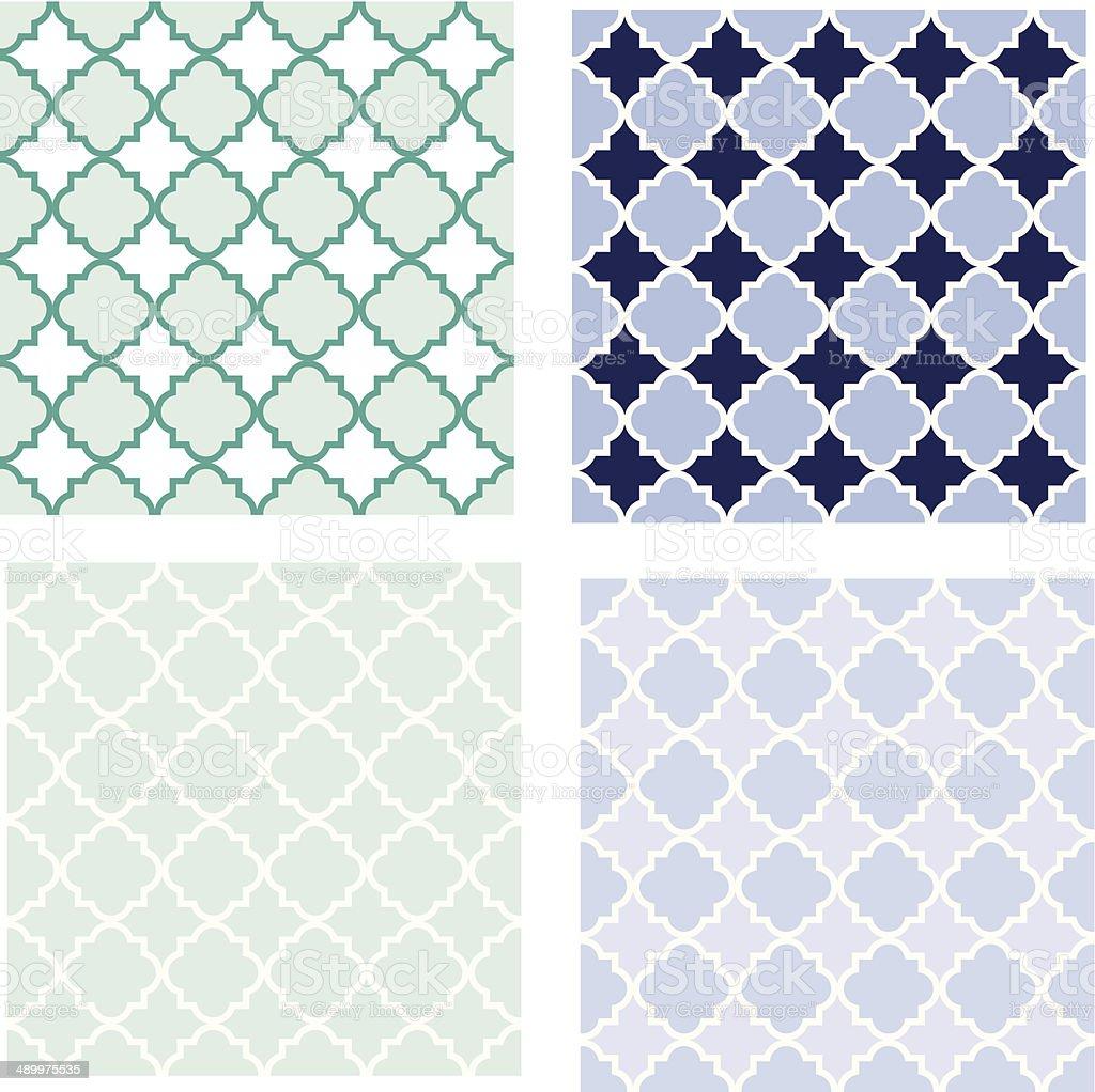Quatrefoil seamless pattern royalty-free stock vector art