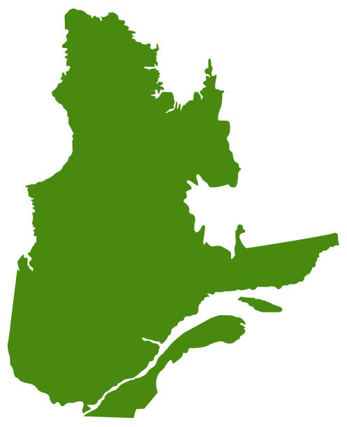 Quebec map vector illustration of Quebec map quebec stock illustrations