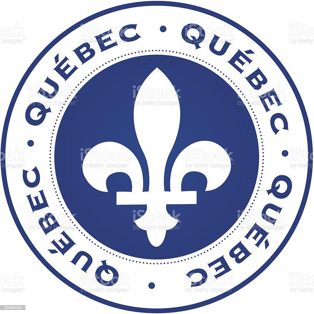 Quebec stamp vector art illustration
