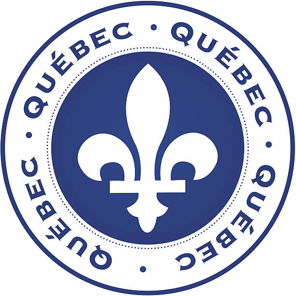 Quebec stamp vector art illustration