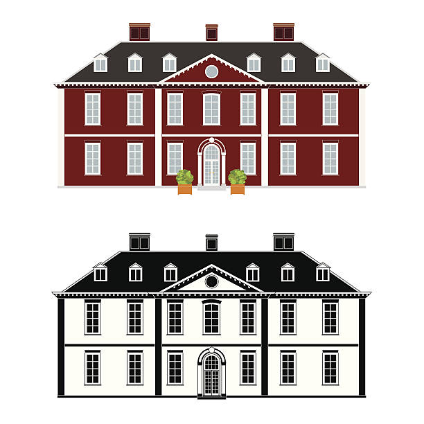 Best Country House Illustrations, Royalty-Free Vector