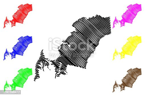 istock Queen Annes County, Maryland (U.S. county, United States of America, USA, U.S., US) map vector illustration, scribble sketch Queen Anne's map 1292398412