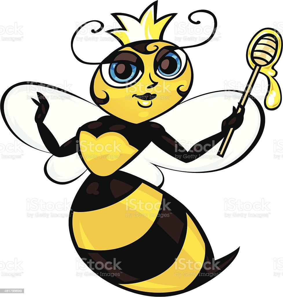 royalty free queen bee clip art vector images illustrations istock rh istockphoto com queen bee free clip art queen bee black and white clip art