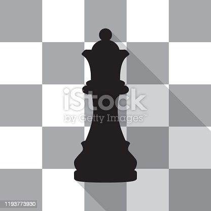 istock Queen Chess Piece Icon 1193773930