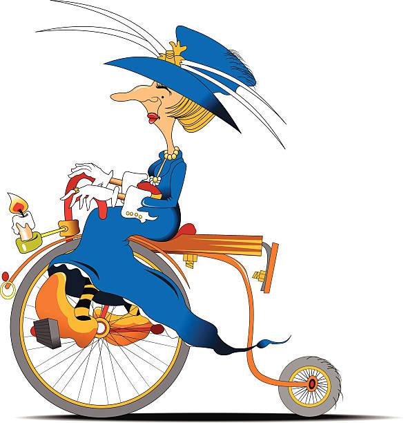 radfahrer mit queen-size-bett - lustige fahrrad stock-grafiken, -clipart, -cartoons und -symbole