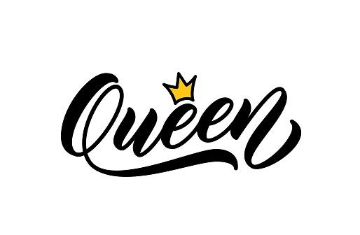 Queen handwritten word.