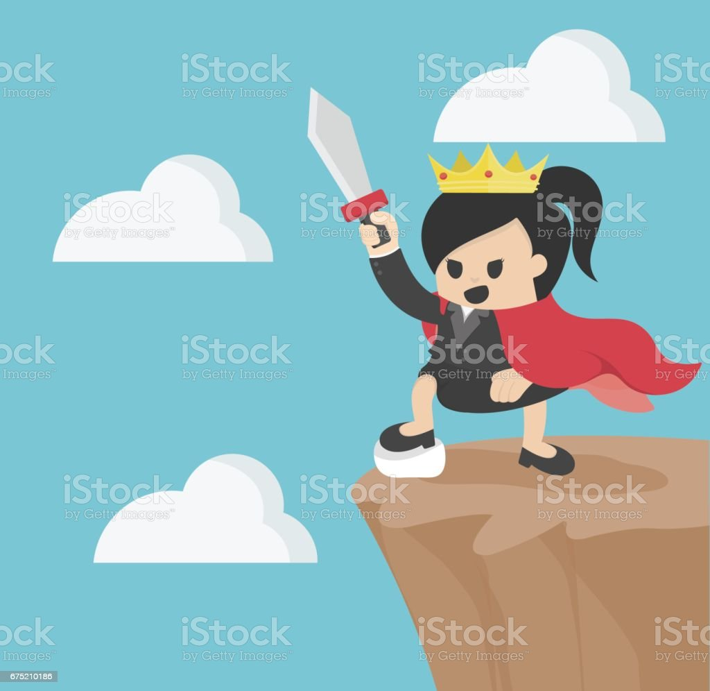 Queen of Business On top of mount royalty-free queen of business on top of mount stock vector art & more images of adult