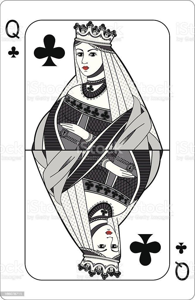 Queen Of Clubs Stock Vektor Art und mehr Bilder von Brustbereich ...