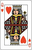 Queen of Hearts Playing Card