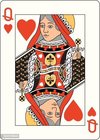 istock Queen of Hearts Two Playing Card 165528945