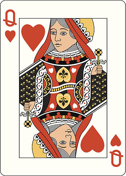 top 60 queen of hearts card clip art vector graphics and. Black Bedroom Furniture Sets. Home Design Ideas