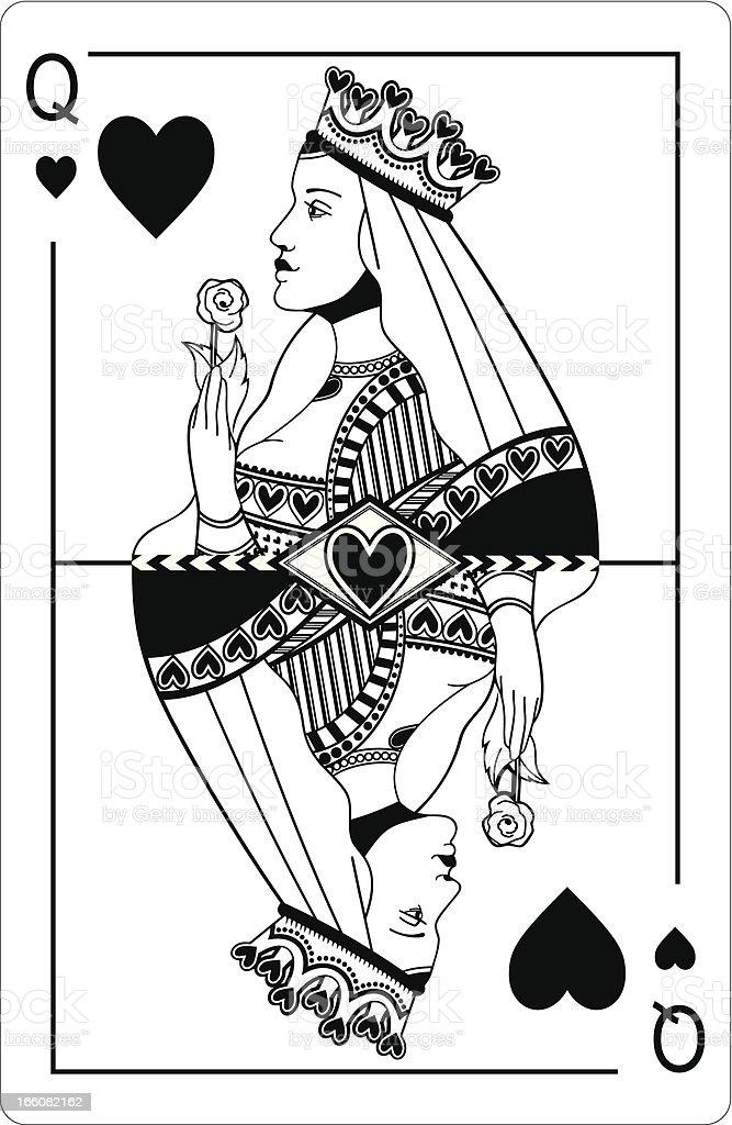 Queen of hearts. vector art illustration