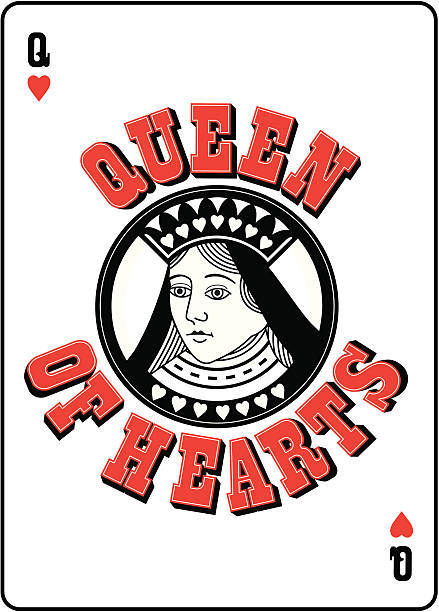 Best Queen Of Hearts Illustrations, Royalty-Free Vector ...